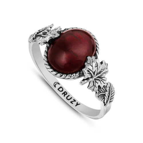 Wonders of the Woodlands - Garnet & Sterling Silver Ring
