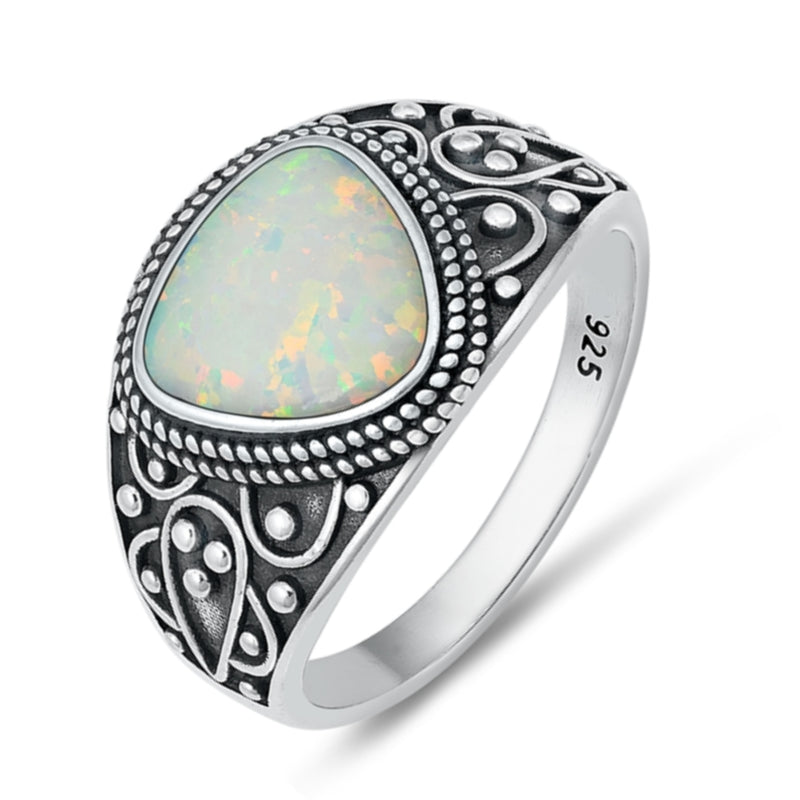 Ethereal - Rainbow Moonstone & Sterling Silver Ring