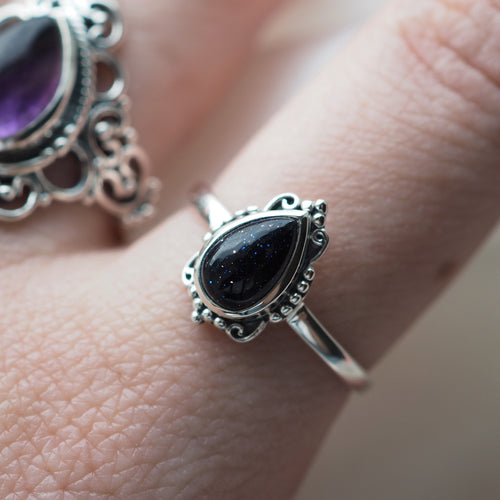Ilaria - Blue Goldstone & Sterling Silver Ring