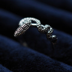 Serpiente - Sterling Silver Snake Ring