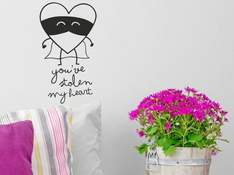 Wall Decals sticker Mr Wonderful STOLEN HEART