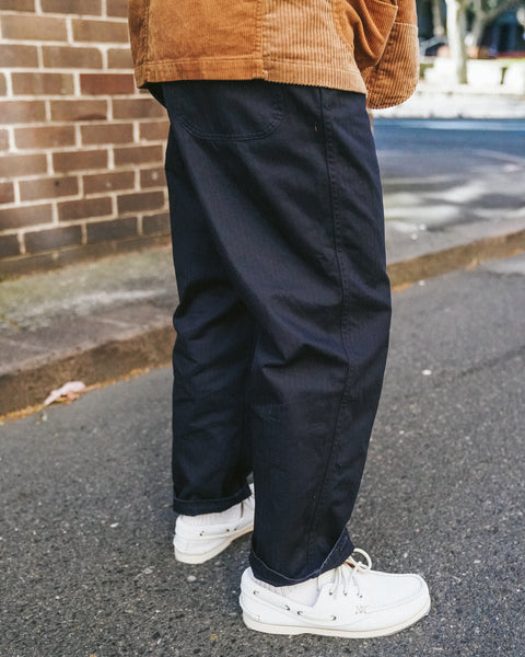 Engineered Garments Ground Pant Herringbone Navy