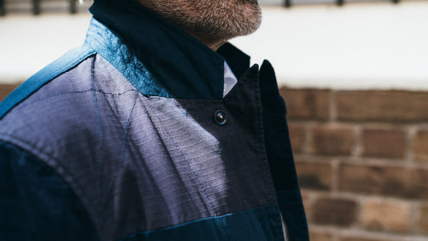 Engineered Garments Bedford Navy Patchwork