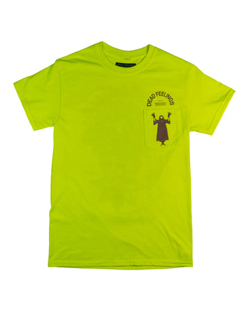 Dead Feelings Revolve Print Safety Green