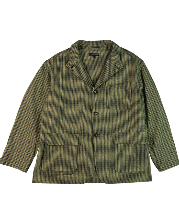 Engineered Garments Loiter Jacket Tan Green Wool Gunclub Check