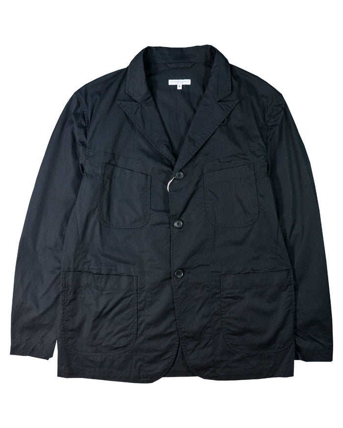 Engineered Garments New Bedford Jacket Black High Count Twill