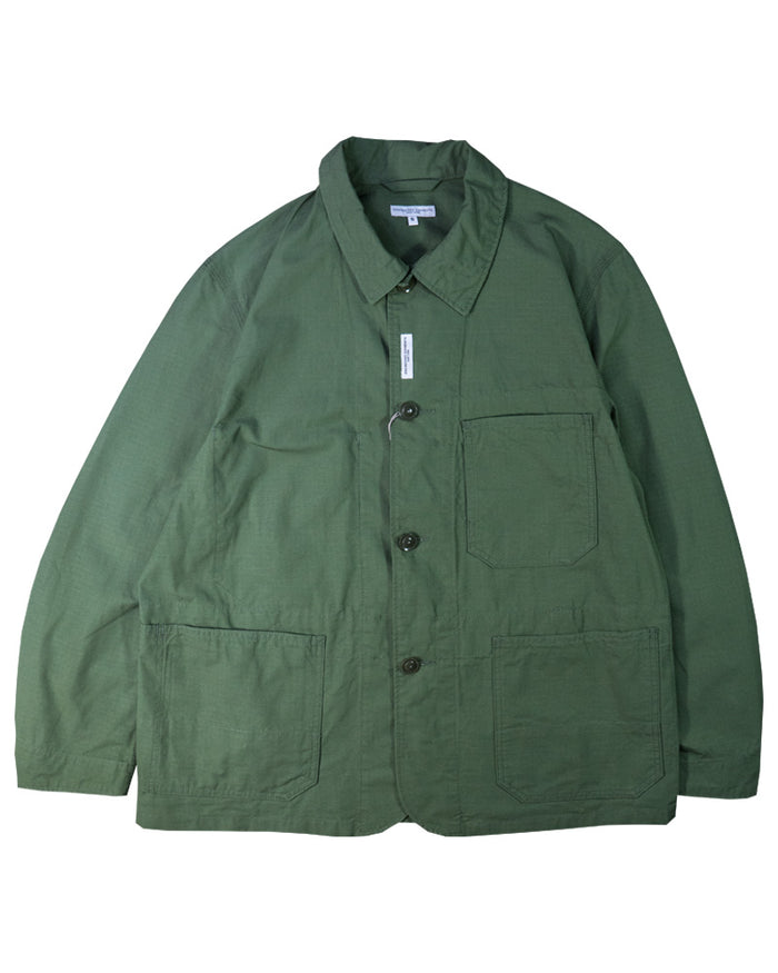 Engineered Garments Work Jacket Olive Cotton Ripstop