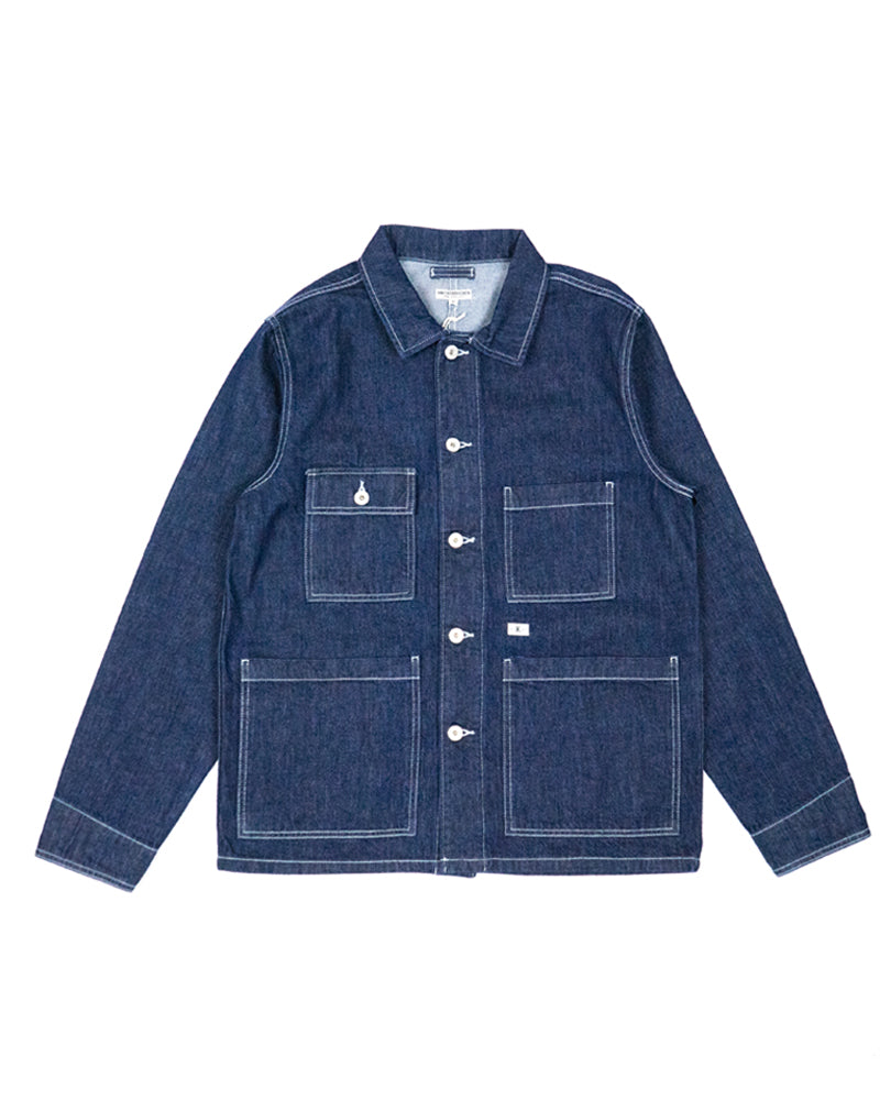 Knickerbocker Four Pocket Chore Coat Dark Denim