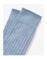 Lady White Co. Natural Athletic Socks Sky