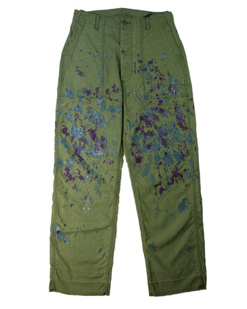 Needles Fatigue Pant Back Sateen Paint