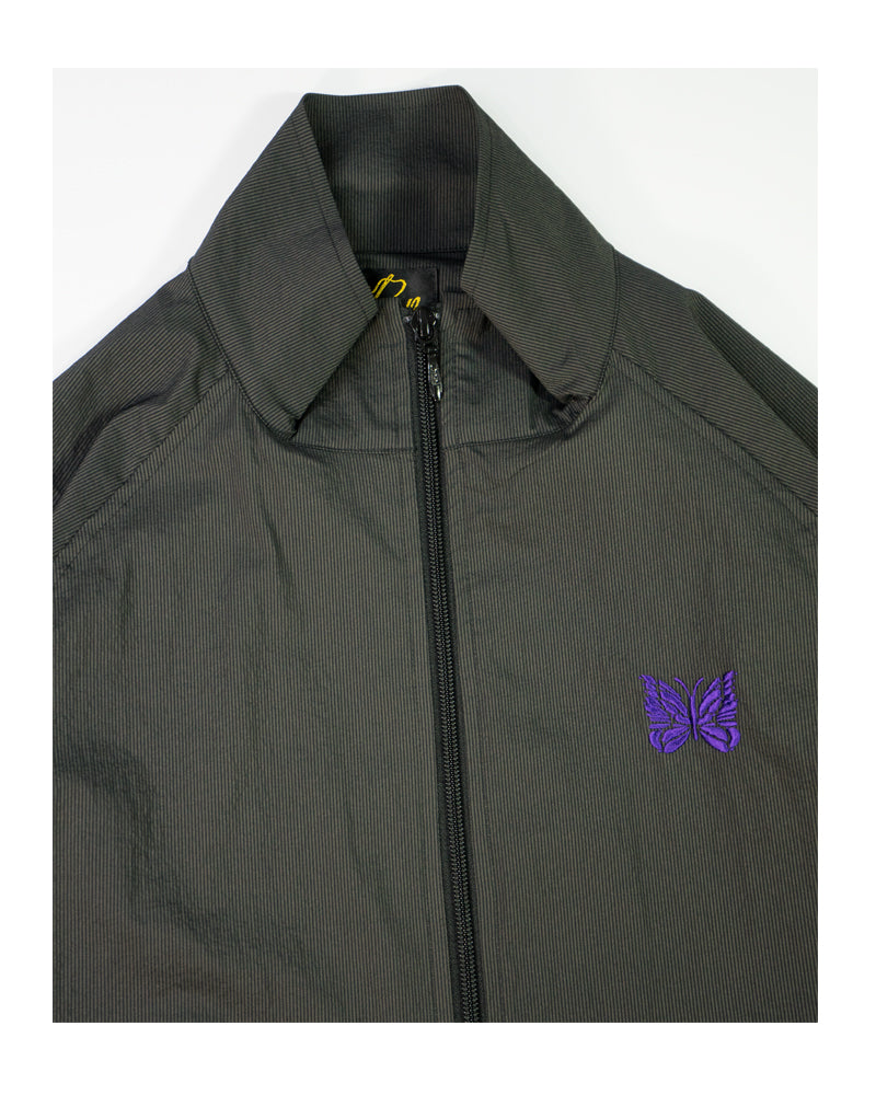 Needles Jog Jacket Charcoal Nylon Iridescent Stripe