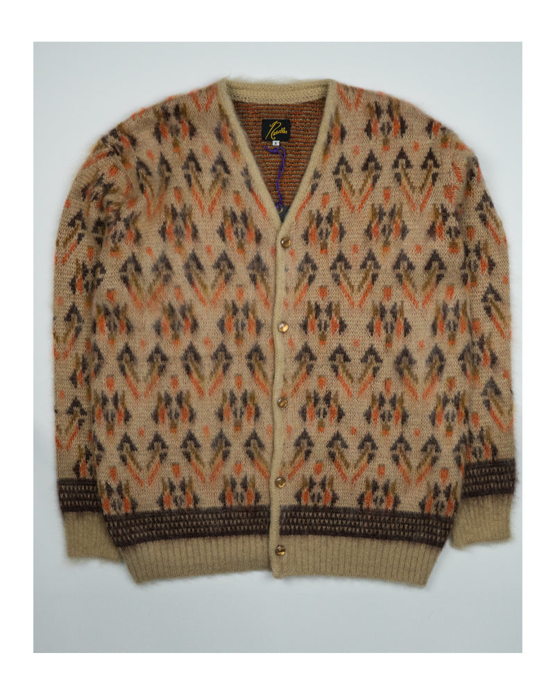 Needles Mohair Cardigan Triangle Beige