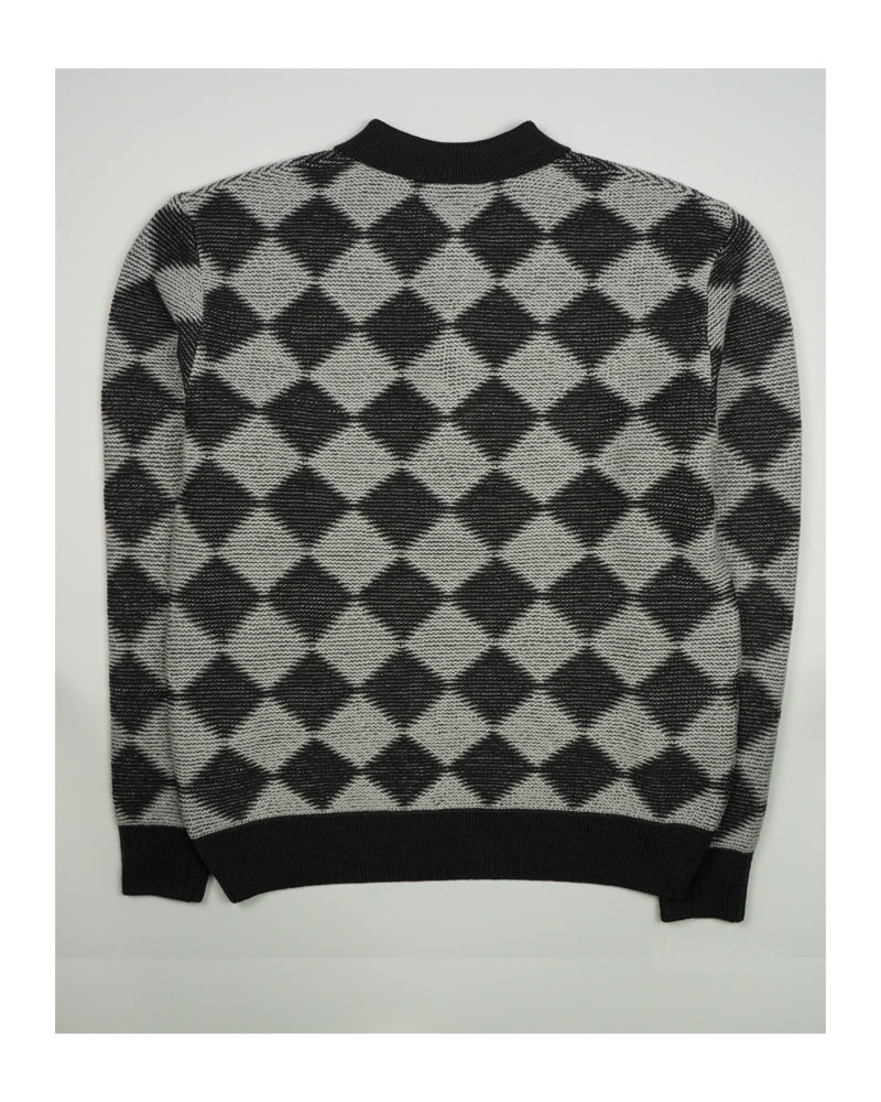 Needles Polo Sweater Checkered Charcoal