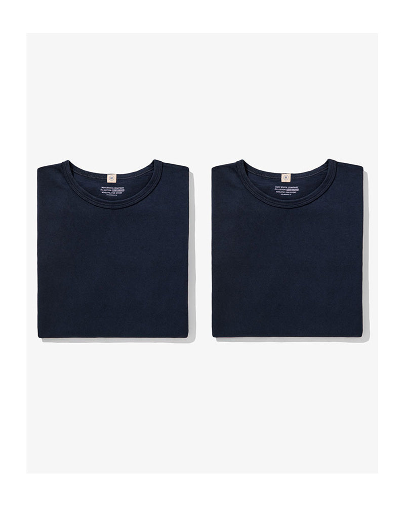 Lady White T-shirt Two Pack Navy
