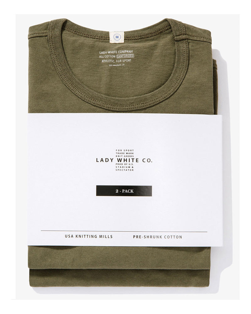Lady White T-shirt Two Pack Olive