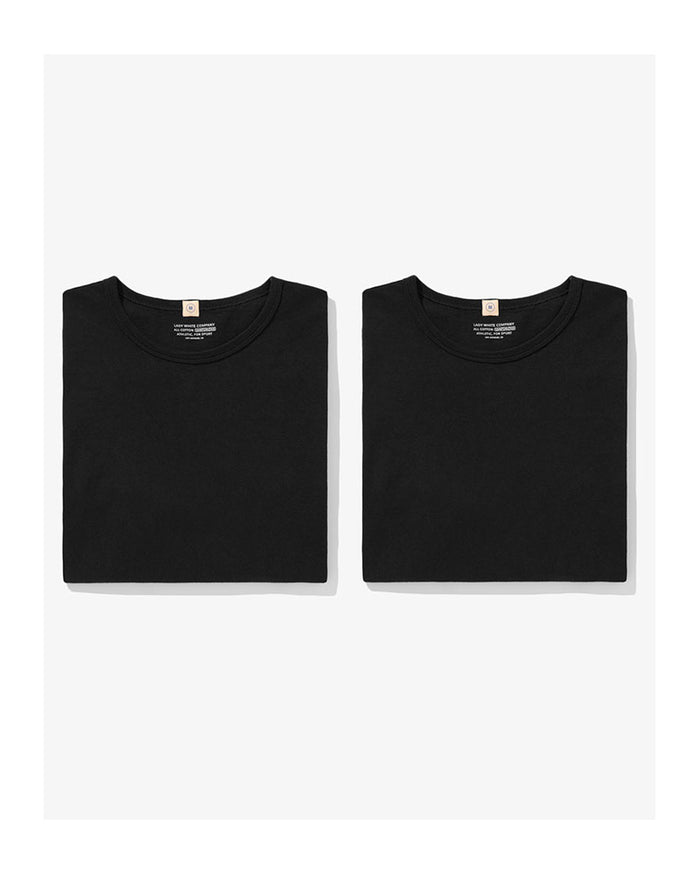 Lady White T-Shirt Two Pack Black