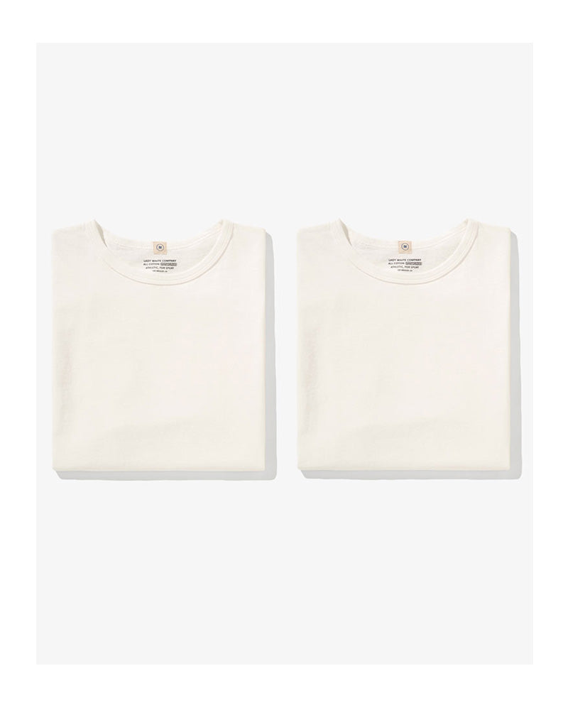 "Lady White Co ""Our White T-shirt"" Two Pack"