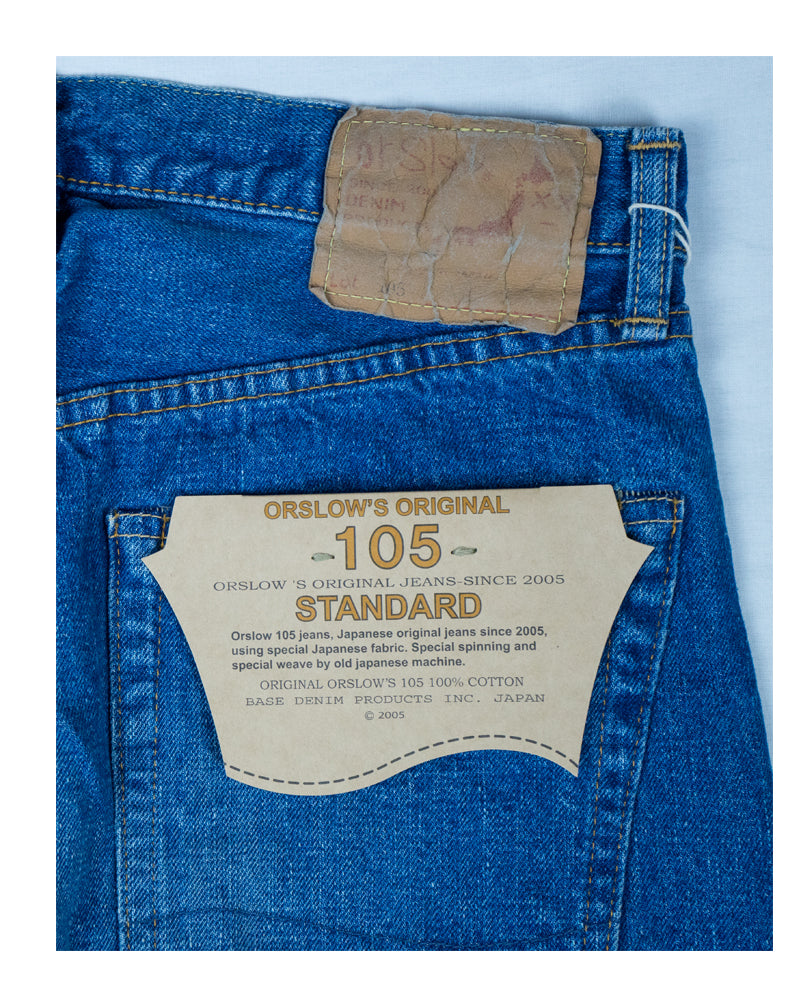 Orslow Standard Denim 105 Two Year Wash Denim