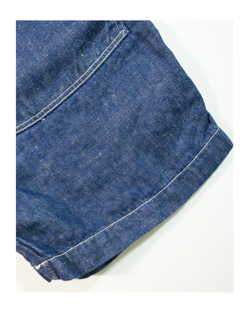 orSlow Climbing Shorts One Wash Linen Denim