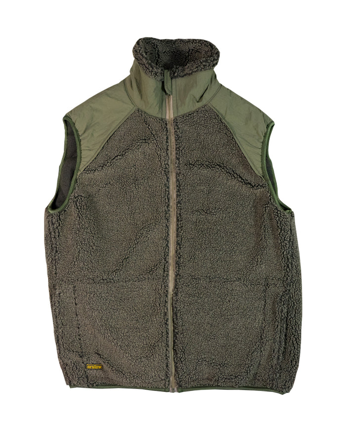 orSlow Fleece Vest Brown