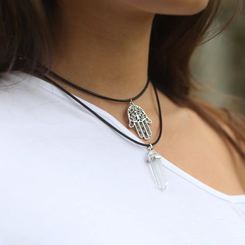 PACKS - Hamsa Hand & Clear Quartz