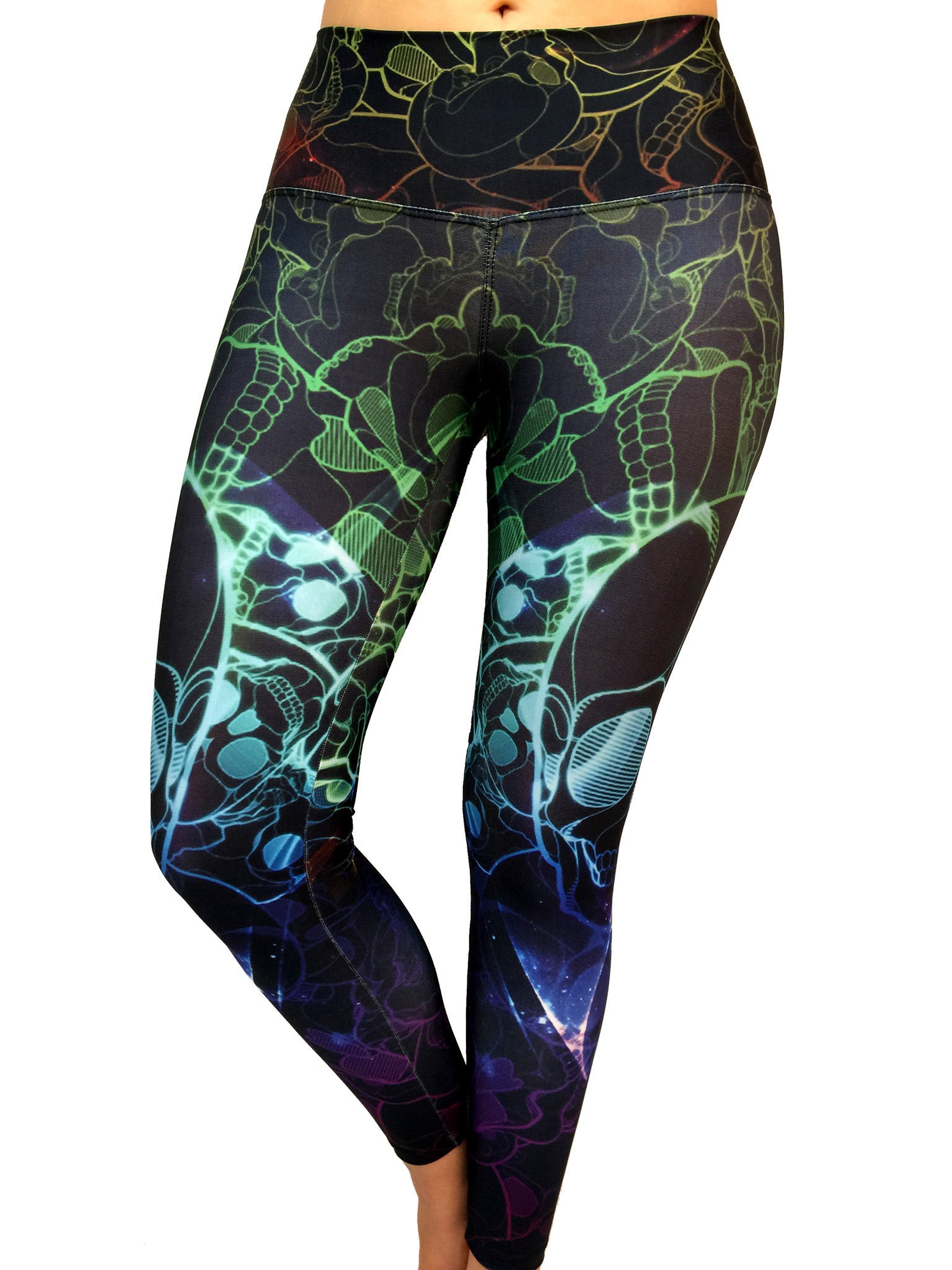 Colorful Skull - Leggings - Butterfly Armor