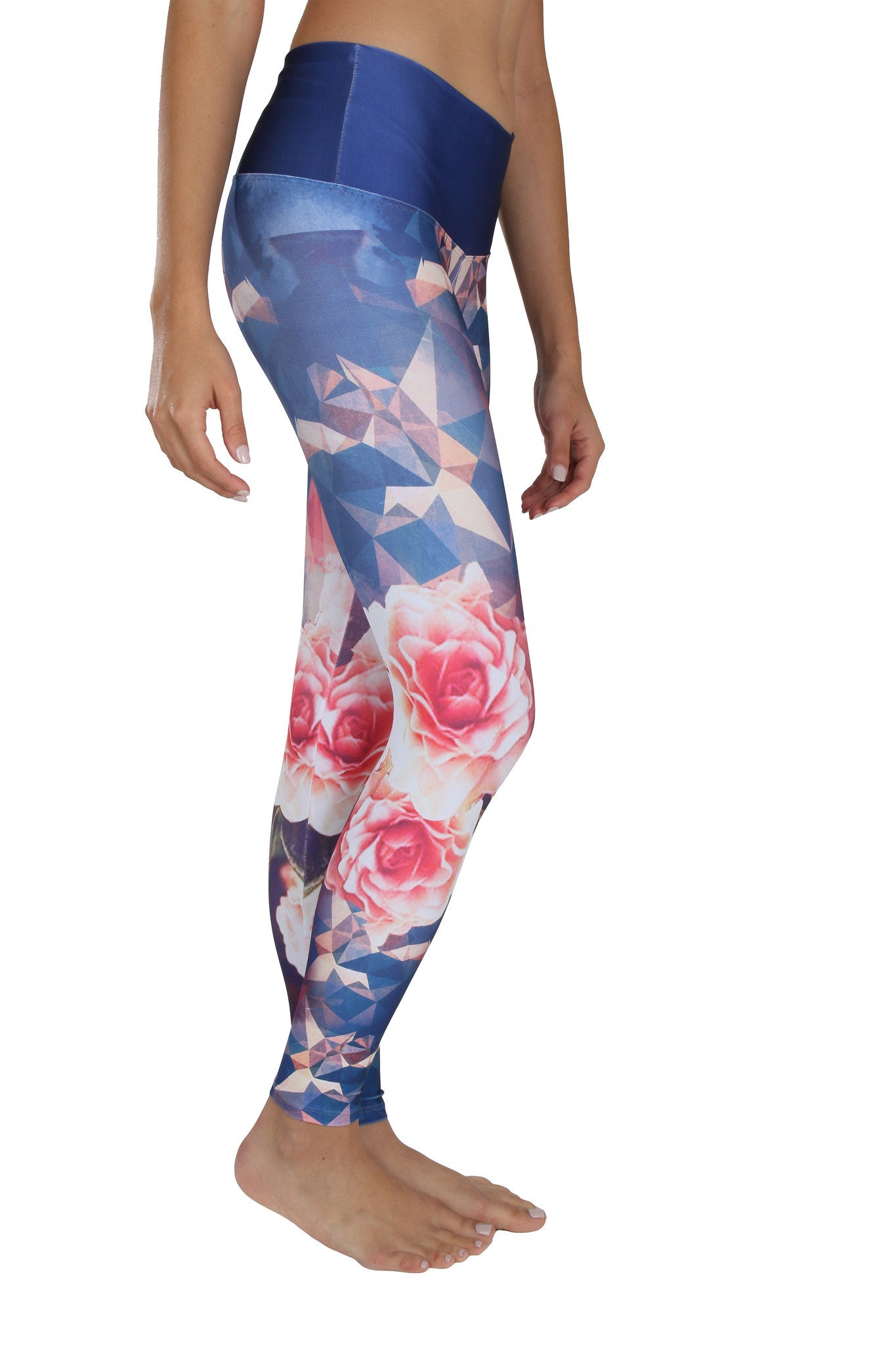 Geometric Rose - Leggings - Butterfly Armor