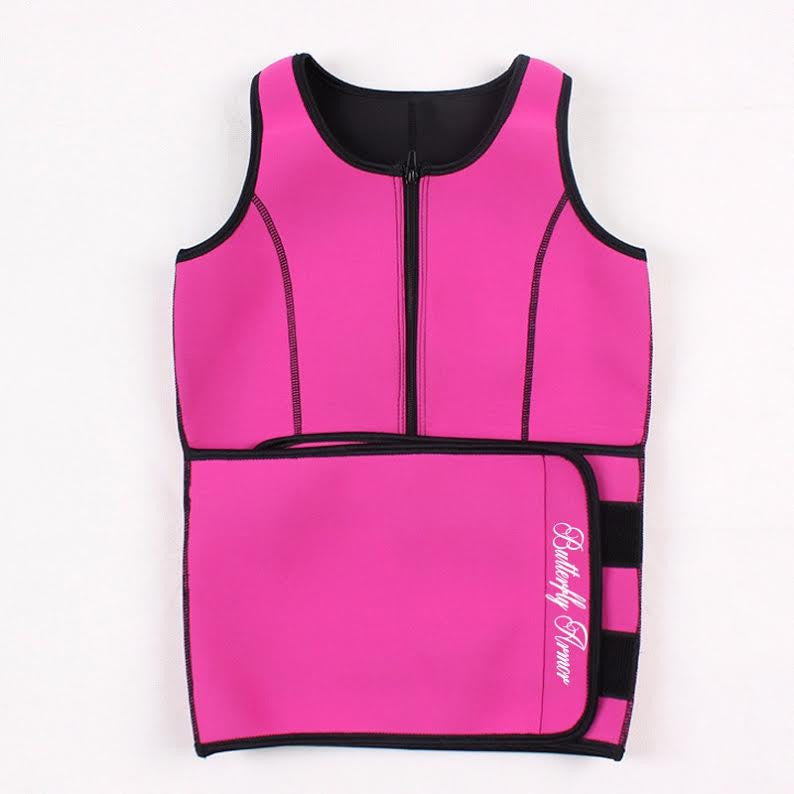 Neoprene Sauna Sweat Vest - SAUNA SWEAT VEST - Butterfly Armor