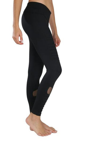 Moto Mesh Black - Leggings - Butterfly Armor