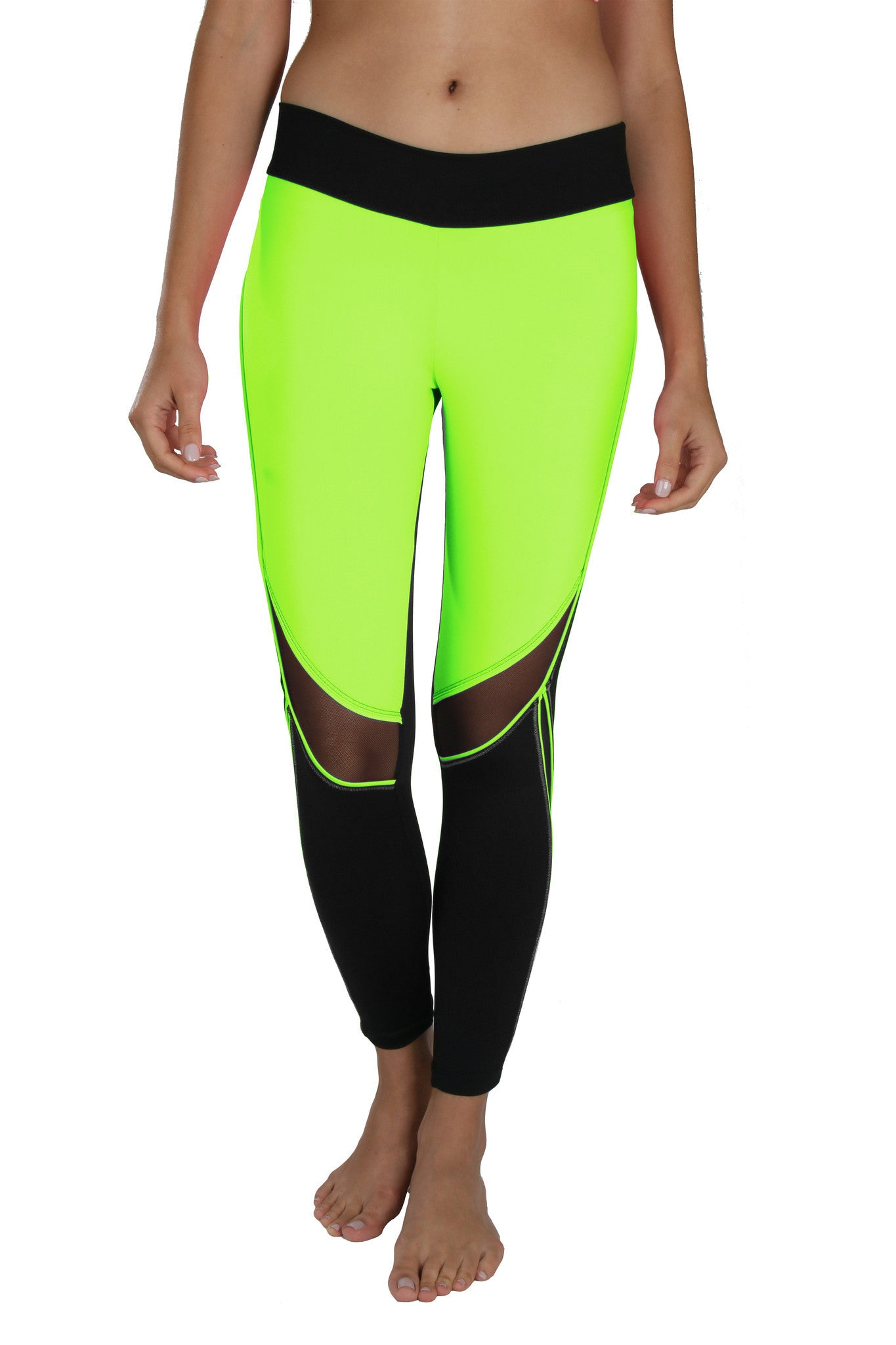 Trish Mesh Neon - Leggings - Butterfly Armor