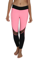 Trish Mesh Pink - Leggings - Butterfly Armor