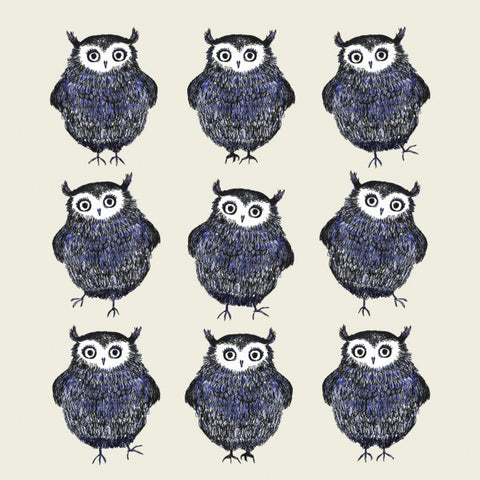 Blue Owls Dancing