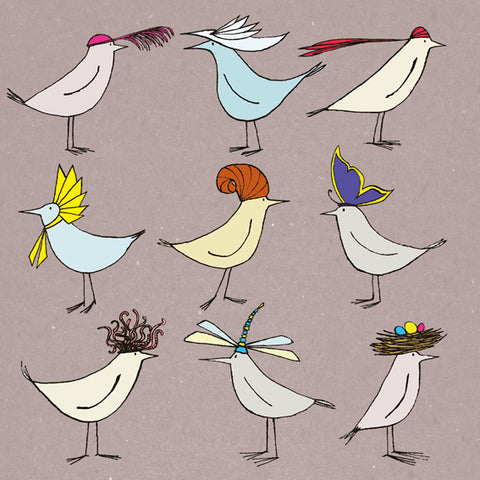 Greater Hatted Birds
