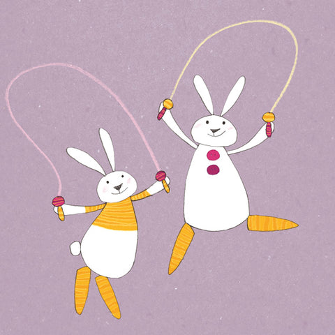Carrot Bunnies. Hop and Skip
