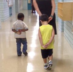 Preschool Orientation: First lessons on walking in line