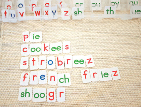Montessori blog: Independence with the Movable Alphabet