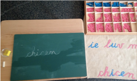 Montessori handwriting step1