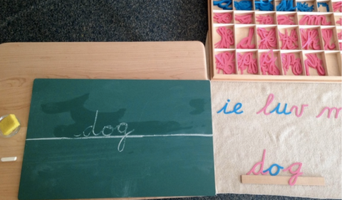 Montessori handwriting step2