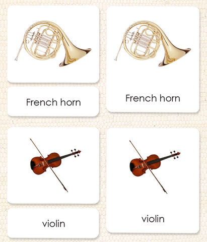 Orchestral Musical Instruments 3-Part Reading - Maitri Learning