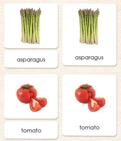 Vegetables 3-Part Reading - Maitri Learning