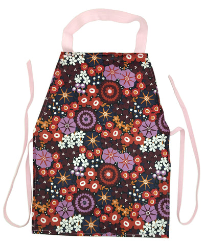 Discounted Plum Flower Aprons - Maitri Learning