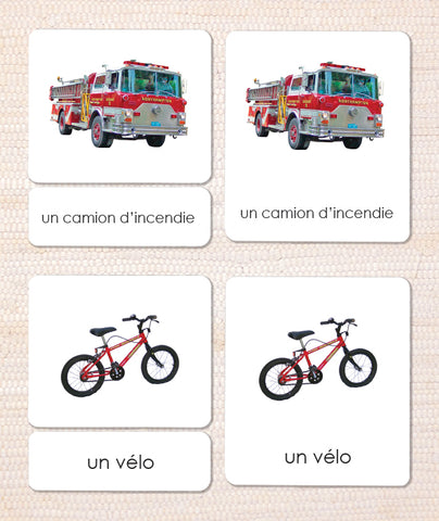 French Transportation 3-Part Reading