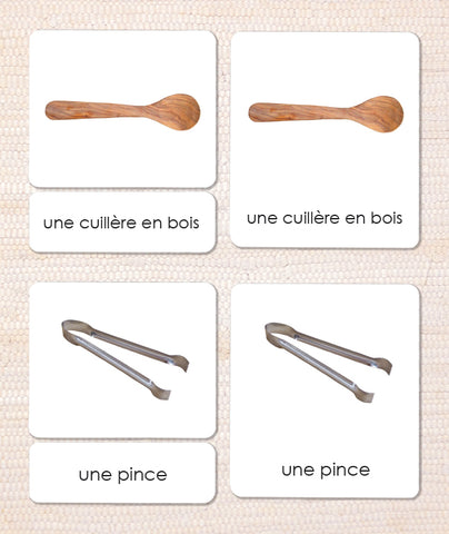 French Utensils 3-Part Reading - Maitri Learning