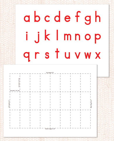 Red Movable Alphabet PDF Download - Maitri Learning