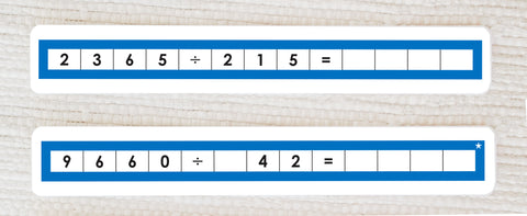 Long Division Equations - Maitri Learning
