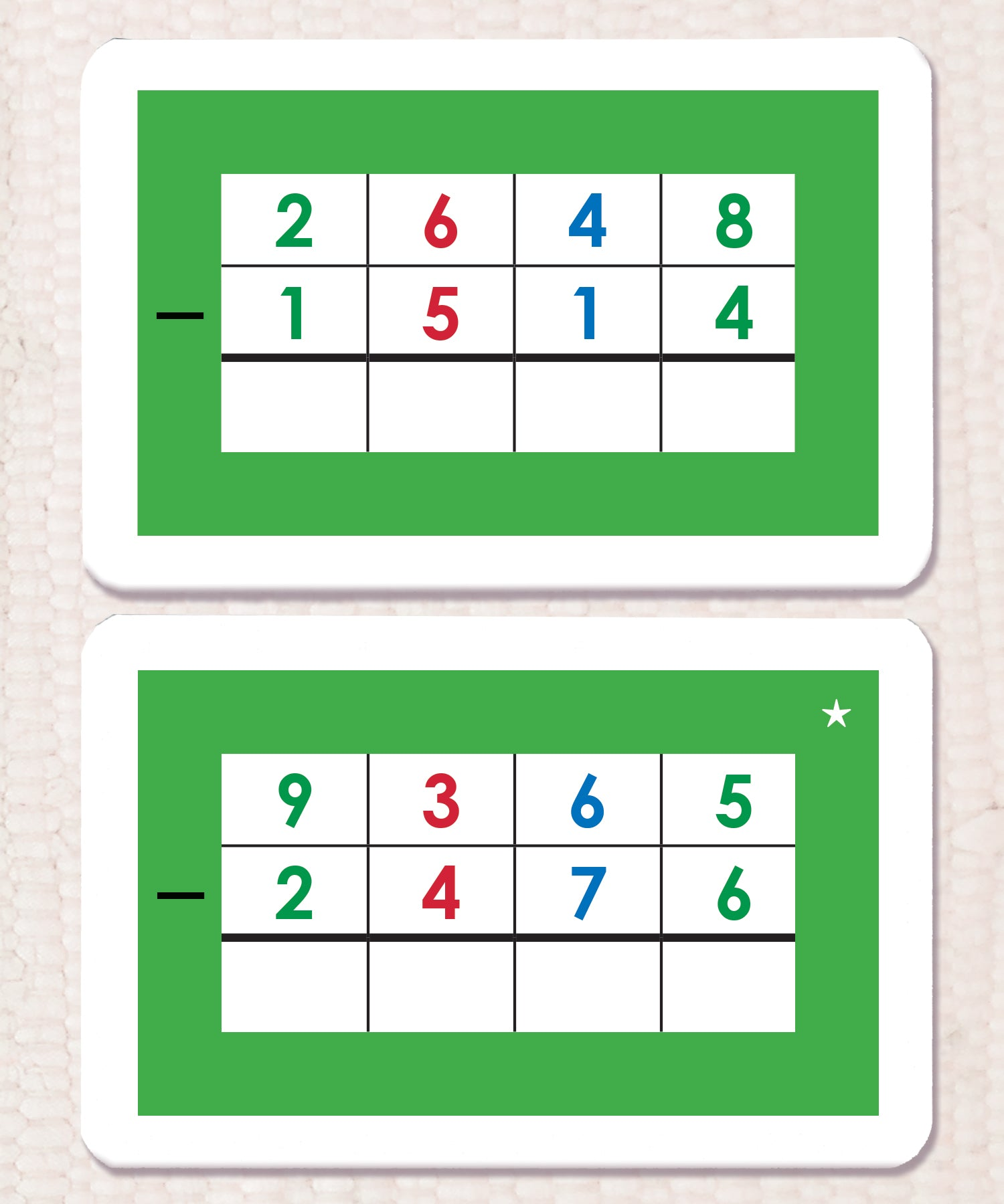 Subtraction Montessori Math Equations – Maitri Learning