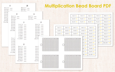 Multiplication Bead Board PDF Download - Maitri Learning