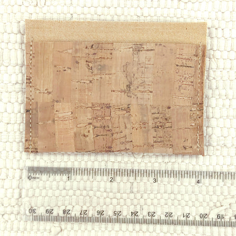 small cork pouch with ruler