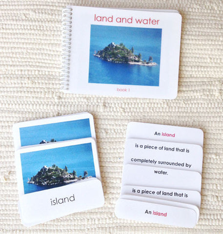 Land & Water 1 Book & Card Set - Maitri Learning
