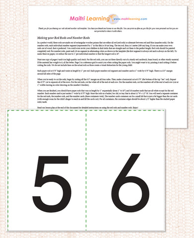 Sandpaper Numbers PDF Download - Maitri Learning